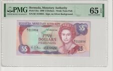 Bermuda - 5 Dollars 1989 - PMG65EPQ - P35a