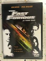 The Fast & The Furious DVD A Todo Gas Spagnolo Inglese Am