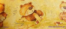 Childrens Teddybear WALLPAPER BORDERS - RASCH 203011- Teddies Playroom Nursery