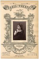 Lemercier et Cie, Paris-Théâtre, Thérésa, chanteuse Vintage albumen Print Tira