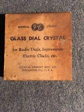 Antique Radio, Clock Glass Dial Crystal