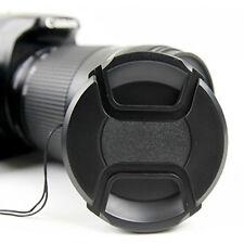 Universal 58 mm Lens Cap Objektivschutz für Kamera Deckel Ersatz Snap On Schwarz