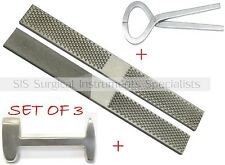 Farrier Set Hoof Rasp Tester Clinch cutter buffer stainless Steel Pro Range