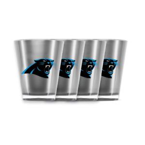 EIGHT (8) CAROLINA PANTHERS, 2.5oz ACRYLIC SHOT GLASSES  FROM DUCKHOUSE