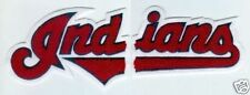 """CLEVELAND INDIANS MLB JERSEY 11.5"""" CHENILLE PATCH SET"""