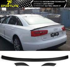 Fits 12-17 Audi A6 C7 Facelift Non-S Line Carbon Fiber Trunk Spoiler Wing