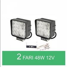 COPPIA LUCE FARO LED 48W LAMPADA DA LAVORO FARETTO AUTO BARCA CAMION SUV 12V 24V