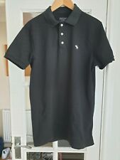 Mens Abercrombie & Fitch Black Polo Shirt Size L