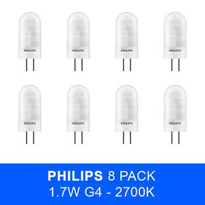 8 x Philips G4 1.7W 12V Non Dim Led Capsule Bulb 2700k Capsule Light Bulb