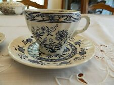Wood & Sons China Old Vienna Blue Onoin Teacup and (2) Saucers 1-2