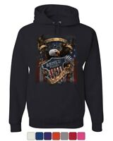 Armed Forces Bald Eagle Hoodie Army This We'll Defend US Flag Sweatshirt
