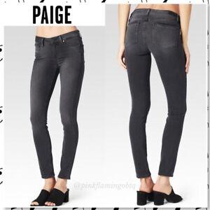 PAIGE $189 Womens Verdugo Ankle Skinny Jeans Mid Rise Stretch Denim Roy Gray 28