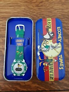 Warner Bros, Daffy Duck & Marvin The Martian Watch, Loony tunes 1996, with tin