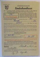 Feuer, Landesbrandkasse Oldenburg, Karte 1954 mit Freistempel (14030)