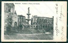 Messina città Piazza del Duomo PIEGHE cartolina QT5795
