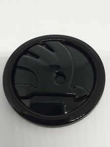 Skoda badge emblem 80mm Gloss Black high quality free p&p