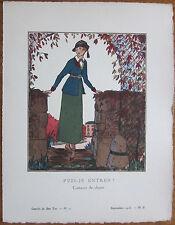 Gazette du Bon Ton Pochoir Art Deco Puis je entrer - 1920