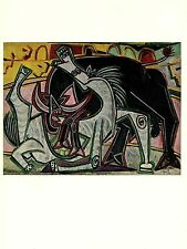 """1964 Vintage PICASSO """"THE BULLFIGHT"""" FABULOUS & FAMOUS COLOR offset Lithograph"""