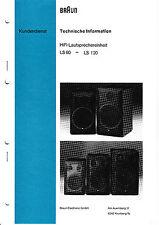 Service Manual-Anleitung für Braun LS 60-LS 120