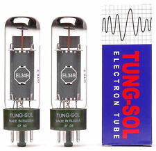 A Matched pair of Tung-Sol EL34B Power Vacuum Tubes / Valves