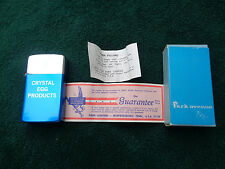 VINTAGE PARK AVENUE LIGHTER ADVERTISING CRYSTAL EGG PRODUCTS W/BOX