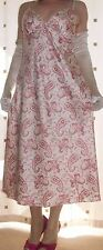 Cream and pink floral print mini full slip~chemise~nightie~gown size medium