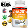 Ashwagandha Capsules 1950 MG With Extract Black Pepper Root Powder 90 CAPSULES