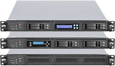 "1U (3x 3.5"" Open+3x2.5"" HDDs Bay)(Micro-ATX/ ITX) Rackmount (D:20.47"") Case NEW"