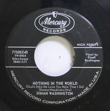 50'S & 60'S Nm! 45 Dinah Washington - Nothing In The World / Unforgetable On Mer