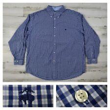 Brooks Brothers Men's XL Blue Plaid Checks L/S Button Front Logo Sport Shirt New