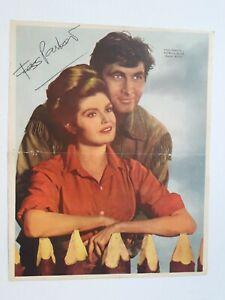"FESS PARKER & PATRICIA BLAIR - ""DANIEL BOONE"" signed - POSTER  ARGENTINA 1960's"