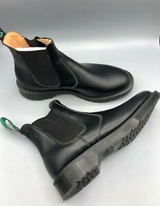 SOLOVAIR Black Hi-Shine Dealer Boot, UK:11, EU:45.5, US:12, NEW WITH BOX