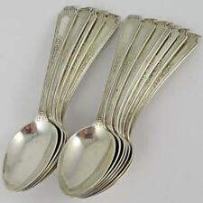 ANTIQUE SET OF 12 WHITING ST. MARTIN'S ENGRAVED STERLING SILVER DEMITASSE SPOONS