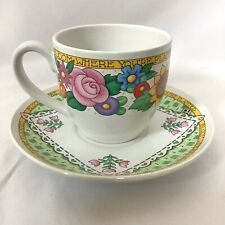 Mary Engelbreit Me Tea Cup & Saucer Bloom Where You're Planted Floral Coffee Cup