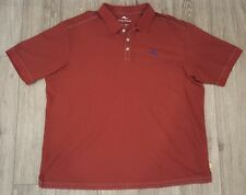 TOMMY BAHAMA Men's Supima Polo Golf Shirt EUC Sz 2XL 2XB Maroon Emb. BLUE logo!