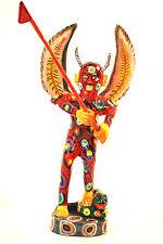 DEVIL SCULPTURE = EL DIABLO = HALLOWEEN=GUATEMALAN FOLK ART