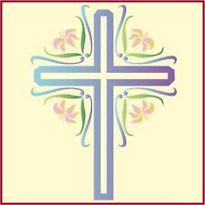 Easter Cross 2 Stencil - Holiday Stencils - New - The Artful Stencil