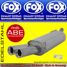 FOX AUSPUFF Audi A4 Limo/Avant B5 2x76 1.6 1.8 1.8T 2.4 2.6 2.8 1.9TDI 2.5TDI