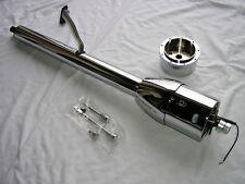 """CHROME 32"""" Tilt Steering Column Floor Shift street hot rod FAST SHIPPING SALE"""