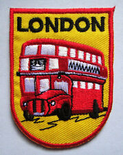 LONDON THE ROUTEMASTER DOUBLE-DECKER BUS Embroidered Iron on Patch Free Shipping