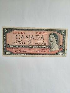 CANADA, 2 Dollars 1954, Pick # 76