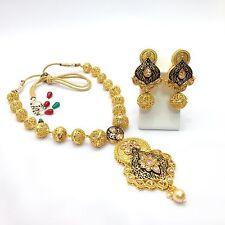 NUOVO Indiano Bollywood gioielli da sposa asiatica etnica Wear Polki Collana Set