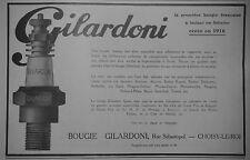 PUBLICITÉ 1925 BOUGIE GILARDONI ÉQUIPE BUGATTI AMILCAR DELAUNAY - ADVERTISING