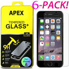 6X New Premium Real Tempered Glass Film Screen Protector for Apple iPhone 7 Plus
