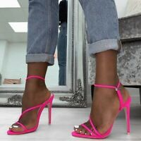 Pumps Sexy Shoes Women Thin High Heels Open Toe Sandal Ankle Strap Pump Shoe