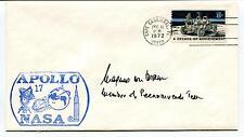 1972 Apollo 17 NASA Cape Canaveral Florida Space Cover SIGNED
