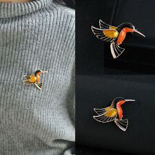 Women Enamel Metal Hummingbird Bird Pin Brooch Breastpin Bag Dress Clothes Decor