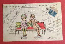 CPSM. Illustrateur MAITREJEAN. 1929. Les Petits Anglais. Petite Fille et Soldat.