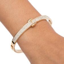 Sevil 18K Gold Plated Belt Bangle With Swarovski Elements