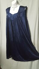SWEET AND SEXY  NAVY BLUE  CALF LENGTH BABYDOLL NIGHTGOWN WOMEN PLUS SZ 4X GIFT